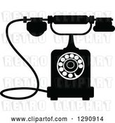 Vector Clip Art of Retro Desk Telephone 10 by Vector Tradition SM