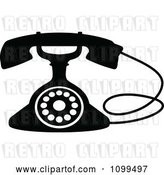 Vector Clip Art of Retro Desk Telephone 3 by Vector Tradition SM