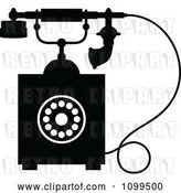 Vector Clip Art of Retro Desk Telephone 4 by Vector Tradition SM