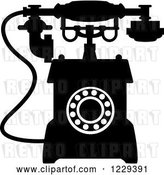 Vector Clip Art of Retro Desk Telephone 6 by Vector Tradition SM