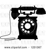 Vector Clip Art of Retro Desk Telephone 7 by Vector Tradition SM