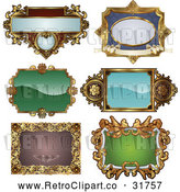 Vector Clip Art of Retro Digital Collage of Antique and Styled Ornate Frame Designs - 1 by AtStockIllustration
