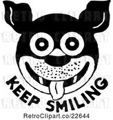 Vector Clip Art of Retro Dog and Keep Smiling Text by BestVector