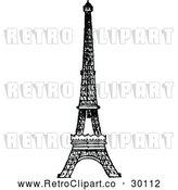 Vector Clip Art of Retro Eiffel Tower by Prawny Vintage