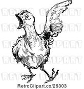 Vector Clip Art of Retro Emerald Oz Hen by Prawny Vintage