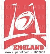 Vector Clip Art of Retro England Rugby Football - 1 by Patrimonio