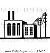 Vector Clip Art of Retro Factory Building by BestVector