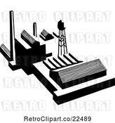 Vector Clip Art of Retro Factory by BestVector