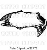 Vector Clip Art of Retro Fish Frame by BestVector