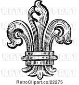 Vector Clip Art of Retro Fleur De Lys Logo by BestVector