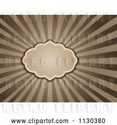 Vector Clip Art of Retro Frame over Grungy Brown and Tan Rays by KJ Pargeter