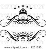 Vector Clip Art of Retro Frame with a Crown and Stars 3 by Vector Tradition SM