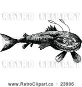 Vector Clip Art of Retro Funny Fish by Prawny Vintage