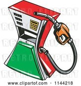 Vector Clip Art of Retro Gas Station Pump 1 by Patrimonio