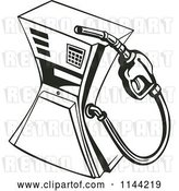 Vector Clip Art of Retro Gas Station Pump by Patrimonio