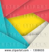Vector Clip Art of Retro Geometric Colorful Abstract Background of Layers by KJ Pargeter