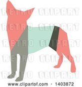 Vector Clip Art of Retro Geometric Colorful Profiled Chihuahua Dog by Cherie Reve