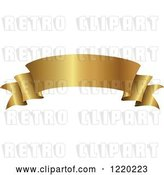 Vector Clip Art of Retro Golden Banner Scroll 2 by Cidepix