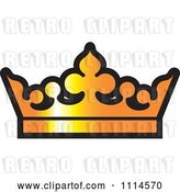 Vector Clip Art of Retro Golden Crown by Lal Perera