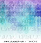 Vector Clip Art of Retro Gradient Purple and Blue Geometric Background by KJ Pargeter
