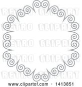 Vector Clip Art of Retro Gray Frame Design Element by KJ Pargeter