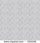 Vector Clip Art of Retro Grayscale Diamond Illusion Background Pattern by Michaeltravers