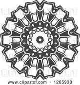 Vector Clip Art of Retro Grayscale Lace Circle by Vector Tradition SM