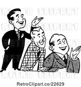 Vector Clip Art of Retro Group of Happy Men Presenting by BestVector