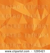 Vector Clip Art of Retro Grungy Orange Geometric Low Poly Background by KJ Pargeter