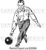 Vector Clip Art of Retro Guy Bowling by BestVector
