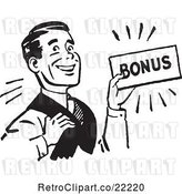 Vector Clip Art of Retro Guy Carrying a Bonus by BestVector