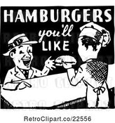 Vector Clip Art of Retro Hamburgers Youll like Sign by BestVector