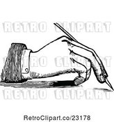 Vector Clip Art of Retro Hand Writing with a Fountain Pen 1 by Prawny Vintage