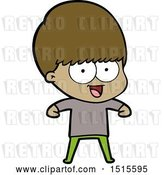 Vector Clip Art of Retro Happy Cartoon Boy by Lineartestpilot