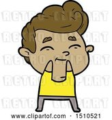 Vector Clip Art of Retro Happy Cartoon Guy by Lineartestpilot