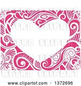 Vector Clip Art of Retro Heart Shaped Floral Frame by BNP Design Studio