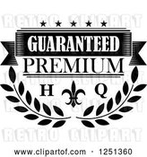 Vector Clip Art of Retro High Quality Premium Guarantee Label by Vector Tradition SM