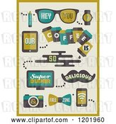 Vector Clip Art of Retro Hipster Coffee Designs by Elena