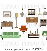 Vector Clip Art of Retro Household Furniture 3 by Vector Tradition SM