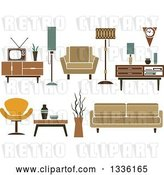Vector Clip Art of Retro Household Furniture 5 by Vector Tradition SM