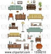 Vector Clip Art of Retro Household Furniture 6 by Vector Tradition SM