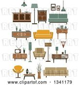 Vector Clip Art of Retro Household Furniture 7 by Vector Tradition SM