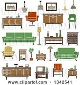 Vector Clip Art of Retro Household Furniture 8 by Vector Tradition SM