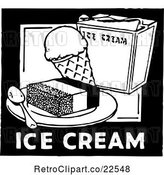 Vector Clip Art of Retro Ice Cream Sign by BestVector
