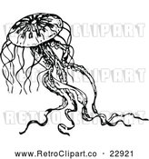 Vector Clip Art of Retro Jellyfish 2 by Prawny Vintage