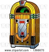 Vector Clip Art of Retro Jukebox Machine by Clip Art Mascots