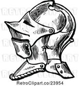 Vector Clip Art of Retro Knight Helmet by Prawny Vintage