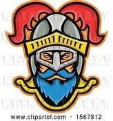 Vector Clip Art of Retro Knight Wearing a Plumed Helmet by Patrimonio