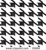 Vector Clip Art of Retro Large Houndstooth Pattern by Michaeltravers
