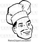 Vector Clip Art of Retro Male Chef Smiling by BestVector